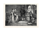 The Magic Mirror. in the Exhibition of the Institute of Painters in Water Colours 1868 Giclee Print by George Cattermole