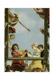 Musical Group on a Balcony, 1622 Reproduction procédé giclée par Gerrit van Honthorst