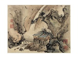 Finger Painting, from an Album of Ten, 1684 Giclee Print by Gao Qipei