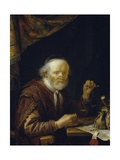 Weighing Gold, 1664 Giclee Print by Gerrit Dou
