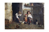 Childhood Leisure Time Games (Trastulli) Giclee Print by Giacomo Mantegazza