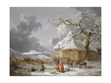 A Fall on the Ice Giclee Print by George Morland