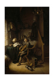 Interior with a Young Violinist, 1637 (Panel) Giclee Print by Gerrit Dou