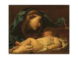 Madonna med barnet Giclée-tryk af Giuseppe Maria Crespi