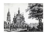 Church of Assumption and Gagarin Palace in Moscow by Giacomo Quarenghi Domenico (1744-1817) Giclee Print by Giacomo Quarenghi