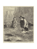 Boys and Boat Giclee Print by George Housman Thomas