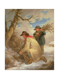 Faggot Gatherers in the Snow Giclee Print by George Morland