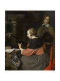 A Lute Player Giclee Print by Gerard ter Borch