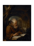 A Hermit Praying, 1670 Giclee Print by Gerrit Dou