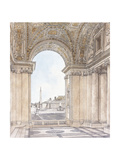 A View of the Piazza San Pietro Giclee Print by Giacomo Quarenghi