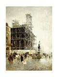 Place De Pyramides Giclee Print by Giuseppe Nittis