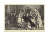 The Christmas Hamper Giclee Print by George Goodwin Kilburne