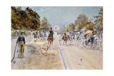 Carriages on the Champs Elysees Giclee Print by Georges Stein