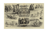 Some Notes at a Ladies' Swimming Competition Giclee Print by Godefroy Durand