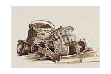 Baskets Giclee Print by Giacinto Gigante