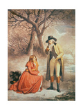 Gentleman and Woman in a Wintry Scene Giclee Print by George Morland