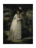 Portrait of a Girl in a Garden, C.1786-88 Giclee Print by George Morland