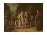 Isaac and Rebecca by the Well of Lahai-Roi Giclee Print by Gerbrandt Van Den Eeckhout