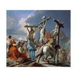 The Crucifixion, 1745-50 Giclee Print by  Giambattista & Giandomenico Tiepolo