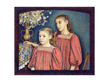 The Two Sisters, the Serruys Sisters, 1894 Giclee Print by Georges Lemmen