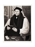 Thomas Cranmer, Archbishop of Cantebury, 1546, Pub. 1902 (Collotype) Giclee Print by Gerlach Flicke