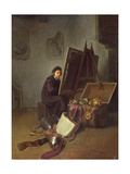 Portrait of the Artist at His Easel in His Studio Giclee Print by Gerrit Dou