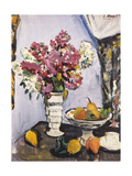 Summer Blossom and a Bowl of Fruit, with a Cup and Saucer Giclee Print by George Leslie Hunter