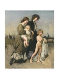 The Holiday Group, 1907 Giclee Print by George Washington Lambert