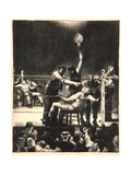 Between Rounds, Small, Second Stone, 1923 Giclee Print by George Wesley Bellows