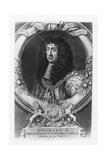Charles II, King of England Giclée-Druck von George Vertue