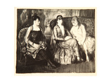 Elsie, Emma and Marjorie, 1921 Giclee Print by George Wesley Bellows