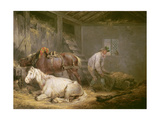Horses in a Stable, 1791 Giclee Print by George Morland