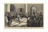 The Khedive Saluting the Holy Carpet at Cairo before its Despatch to Mecca, 5 October Giclee Print by Godefroy Durand