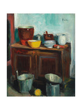 Kitchen Utensils Giclee Print by George Leslie Hunter