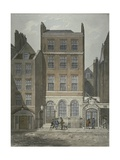 View of Snow's Banking House and Twining's Tea Merchants, Strand, Westminster, C.1810 Giclee Print by George Shepherd