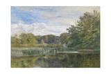 The Mill Pond, Evelyn Woods, 1860 Giclee Print by George Vicat Cole