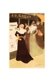 The Sagot Address, French, 1874 1907, 1898, Colored Lithograph Giclee Print by Georges Bottini