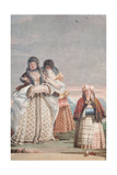 A Winter Stroll, from the 'Foresteria' (Guesthouse) 1757 Giclée-tryk af Giandomenico Tiepolo