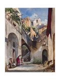 Houses on the Costiera of the Sorrentine Peninsula Giclee Print by Giacinto Gigante