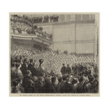 Sir Samuel Baker at the Royal Geographical Society, Hrh the Prince of Wales's Speech Giclee Print by Godefroy Durand