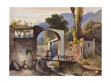 Possibly the Belvedere at Sorrento Giclee Print by Giacinto Gigante