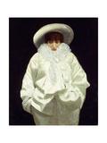 Sarah Bernhardt as Pierrot Giclee Print by Giuseppe Nittis