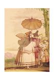The Summer Promenade, C.1757 Giclée-tryk af Giandomenico Tiepolo