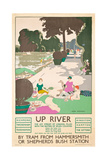 Up River, a London Transport Poster, 1926 Giclee Print by George Sheringham
