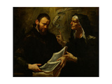 Saint Augustine and Saint Monica Giclee Print by Giovacchino Assereto