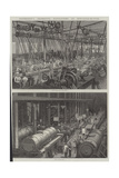 Stephenson's Locomotive Manufactory at Newcastle-On-Tyne Giclee Print by George Henry Andrews