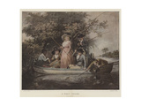 A Party Angling Giclee Print by George Morland