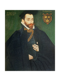 Portrait of a Gentleman, Traditionally Called a Member of the Dacre Family, 1571 Giclee Print by George Gower