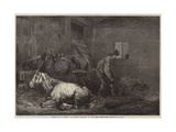 Horses in a Stable Giclee Print by George Morland