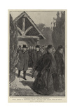 Sunday Morning at Whippingham Church, the Royal Party Leaving after the Service Giclee Print by Gordon Frederick Browne